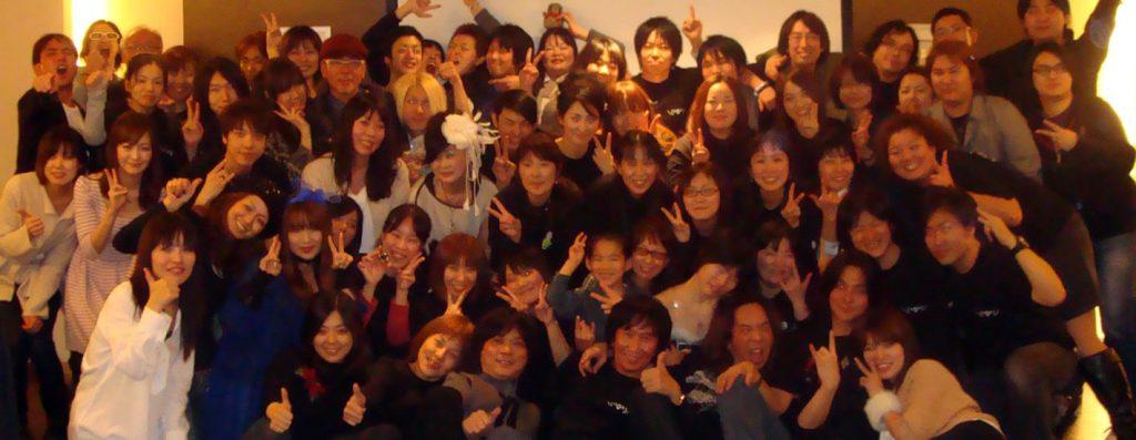 2012年に初開催となったMTMSのライブイベント『バンフェス』後の打ち上げ集合写真